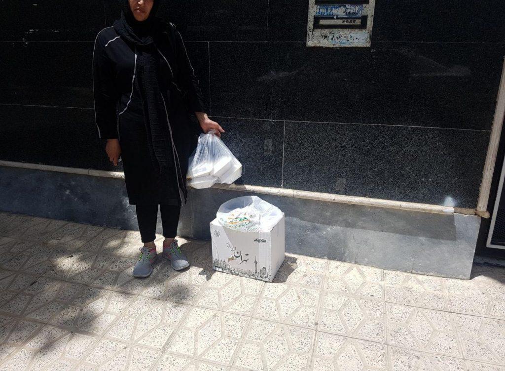 توزیع موادغدایی و نذری اسلام اباد کرج منطقه ۶