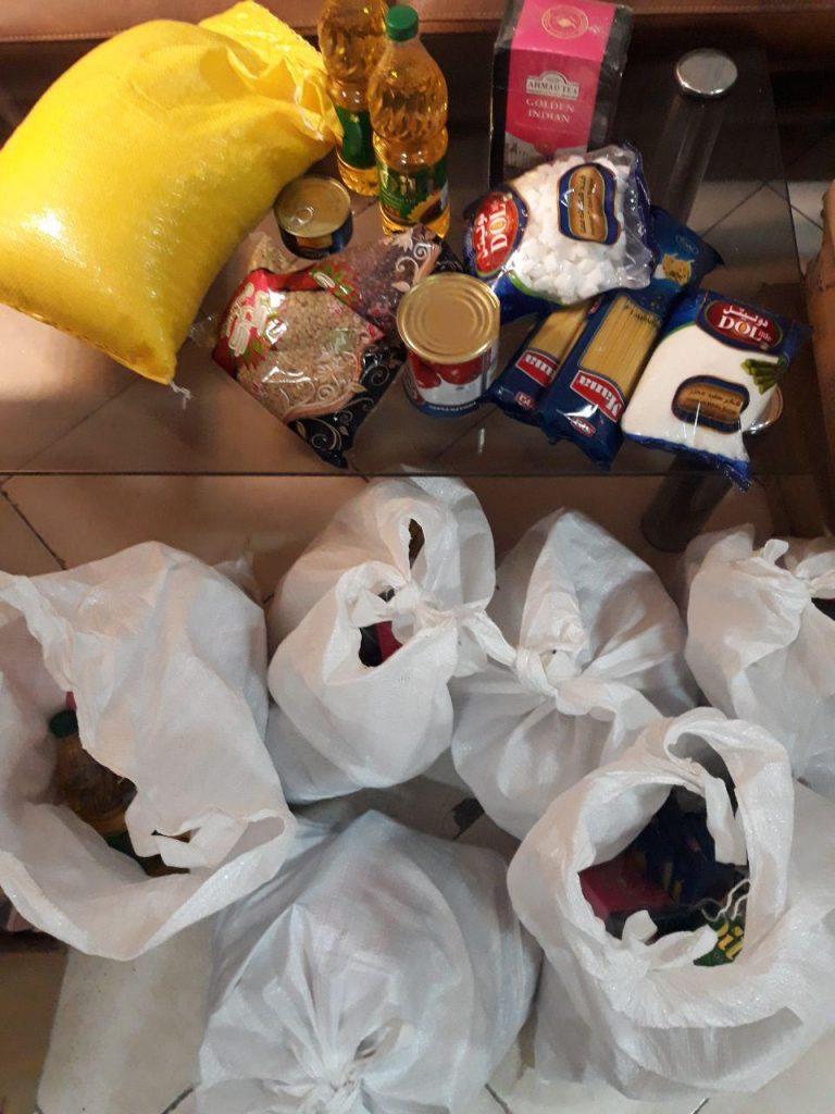 مرحله اول توزیع سبدغذایی ماه مبارک رمضان خانواده های شهر قدس انجمن کودکان مهرهستی ۹۸/۰۲/۱۸