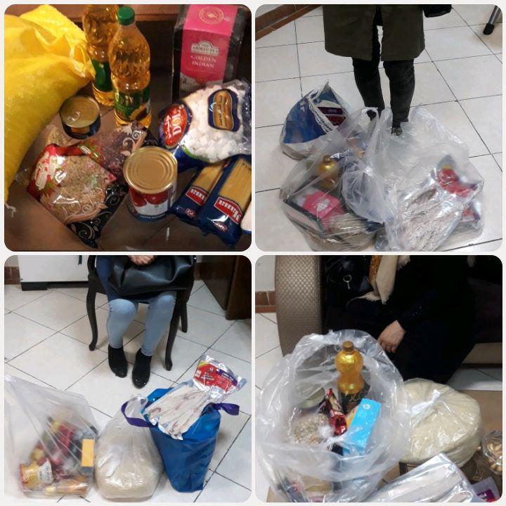 مرحله سوم توزیع سبد غذایی ماه مبارک رمضان خانواده های مهر هستی امروز سه شنبه ۹۸۰۲۲۴
